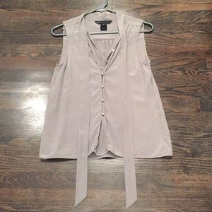 Marc by Marc Jacobs gray silk sleeveless top, 4